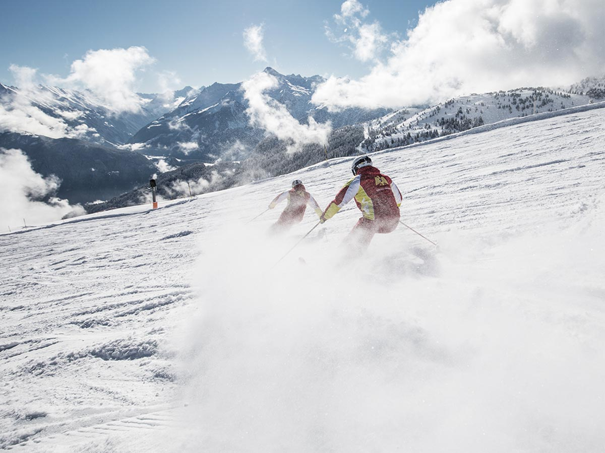 Skifahren Harakiri